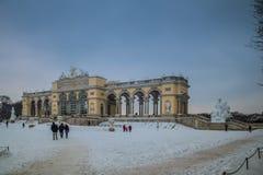 Parco e posto Schönbrunn Vienna Fotografia Stock