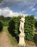 Parco e statua di autunno Immagini Stock Libere da Diritti
