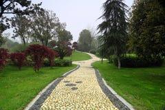 Parco e strada Fotografia Stock