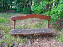 Parco ed alberi naturali e foresta del banco di legno fotografia stock