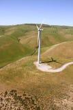 Parco eolico aereo Immagini Stock Libere da Diritti