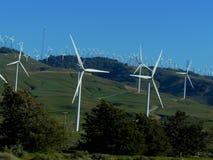 Parco eolico del passaggio di Tehachapi Fotografie Stock