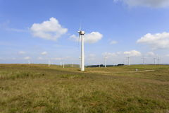 Parco eolico di LLidiartywaun e di Penrhyddlan Fotografia Stock