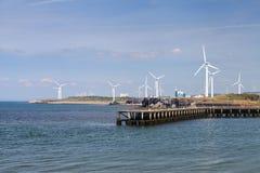 Parco eolico di Workington Fotografie Stock