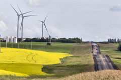 Parco eolico Saskatchewan Fotografia Stock
