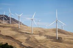 Parco eolico in U.S.A. rurale Immagini Stock