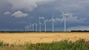 Parco eolico vicino a Thisted, Danimarca Fotografia Stock Libera da Diritti