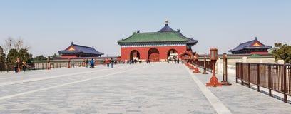 Parco famoso del tempio del cielo di Pechino in Cina Fotografia Stock