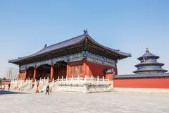 Parco famoso del tempio del cielo di Pechino in Cina Fotografia Stock Libera da Diritti