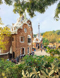 Parco famoso Guell, Spagna Immagine Stock