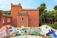 Parco famoso Guell, Spagna Immagini Stock