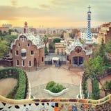 Parco famoso Guell, Spagna Fotografia Stock