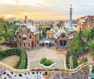 Parco famoso Guell, Spagna Immagine Stock Libera da Diritti