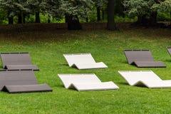 Parco, festa di lettini Fotografia Stock