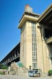 Parco forte del sud del ponte di Nanchino il fiume Chang Jiang Fotografie Stock Libere da Diritti