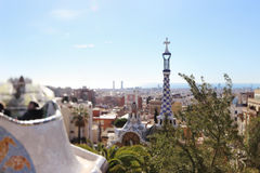 Parco Guell Fotografie Stock