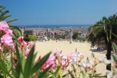 Parco Guell a Barcellona durante l'estate Immagine Stock Libera da Diritti