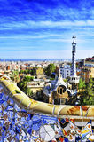 Parco Guell a Barcellona, Spagna Fotografie Stock