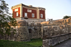 Parco Gussone's Castle. View of a small castle inside Parco Gussone, a park in Portici, a town in Italy Stock Photography