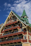 Parco internazionale Canada di pace dei laghi Waterton dell'hotel di principe di Galles Immagine Stock