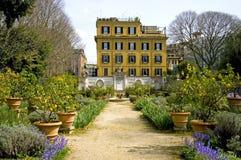 Parco Italia del paesaggio di Borghese della villa di Roma Fotografia Stock Libera da Diritti