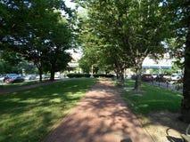 Parco in Kenmore Square, Boston, Massachusetts, U.S.A. immagine stock