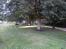 Parco in Kenmore Square, Boston, Massachusetts, U.S.A. immagini stock