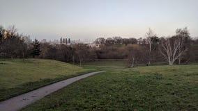 Parco Londra di Greenwich di via di rotolamento di vista del paesaggio immagine stock libera da diritti