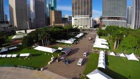 Parco Miami 4k aereo di Bayfront archivi video