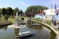 Parco miniatura di Minimundus a Klagenfurt, Austria Fotografia Stock