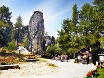 Parco naturale dei culmini della roccia Fotografie Stock Libere da Diritti