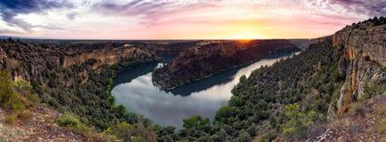 Parco naturale del canyon di Duraton fotografia stock