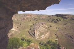 Parco naturale del canyon di Duraton, in Sepulveda, la Spagna Fotografie Stock