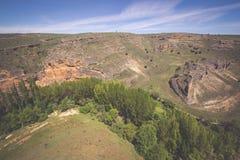 Parco naturale del canyon di Duraton, in Sepulveda, la Spagna Fotografia Stock