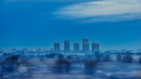 Parco naturale di delta di Vacaresti, Bucarest, Romania Fotografia Stock