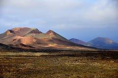 Parco naturale di Lanzarote Timanfaya Fotografia Stock