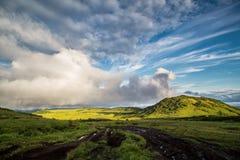 Parco naturale Klyuchevskoy, Kamchatka fotografia stock libera da diritti