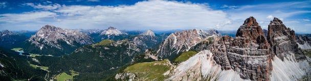 Parco naturale nazionale di panorama Tre Cime In le alpi delle dolomia Sia Fotografia Stock
