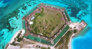 Parco nazionale asciutto di Tortugas, Jefferson forte florida U.S.A. archivi video