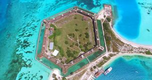 Parco nazionale asciutto di Tortugas, Jefferson forte florida U.S.A. stock footage