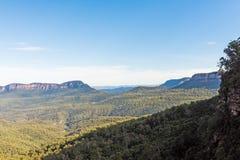 Parco nazionale blu a partire dalle cadute di Katoomba, Australia delle montagne Fotografia Stock
