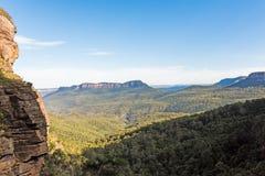 Parco nazionale blu a partire dalle cadute di Katoomba, Australia delle montagne Immagini Stock Libere da Diritti