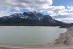 Parco nazionale Canada di banff del lago Abraham della montagna Fotografia Stock