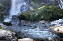 Parco nazionale Chaing Mai Thailand della cascata di Vachiratharn Immagini Stock