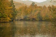 Parco nazionale dei laghi Yedigöller - di Bolu sette Fotografie Stock Libere da Diritti