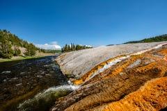 Parco nazionale del fiume di Firehole, Yellowstone, Wyoming Immagini Stock Libere da Diritti