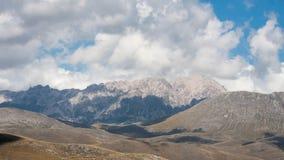 Parco Nazionale del Gran Sasso sikt Arkivbild