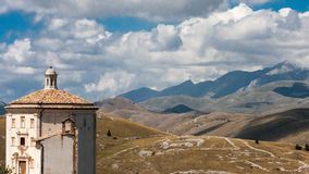 Parco Nazionale del Gran Sasso sikt Arkivbilder