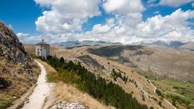 Parco Nazionale del Gran Sasso slott Arkivbilder