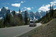 Parco nazionale del lago moraine, Banff, Alberta, Canada Fotografie Stock Libere da Diritti